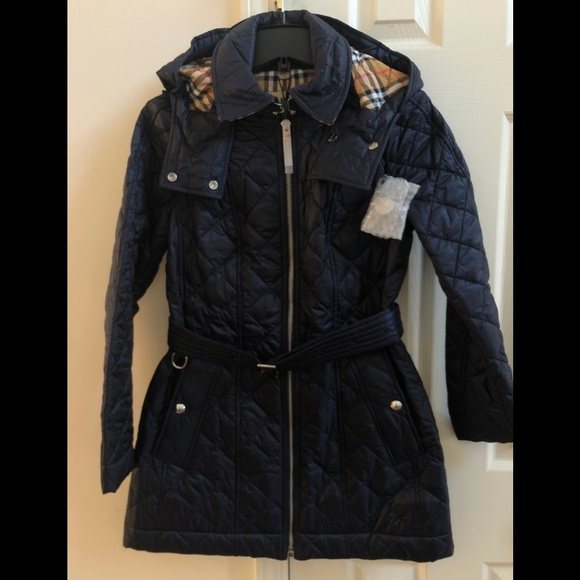 de6fdee2a358 Burberry Baughton 18 Quilted coat - ink blue Sz S